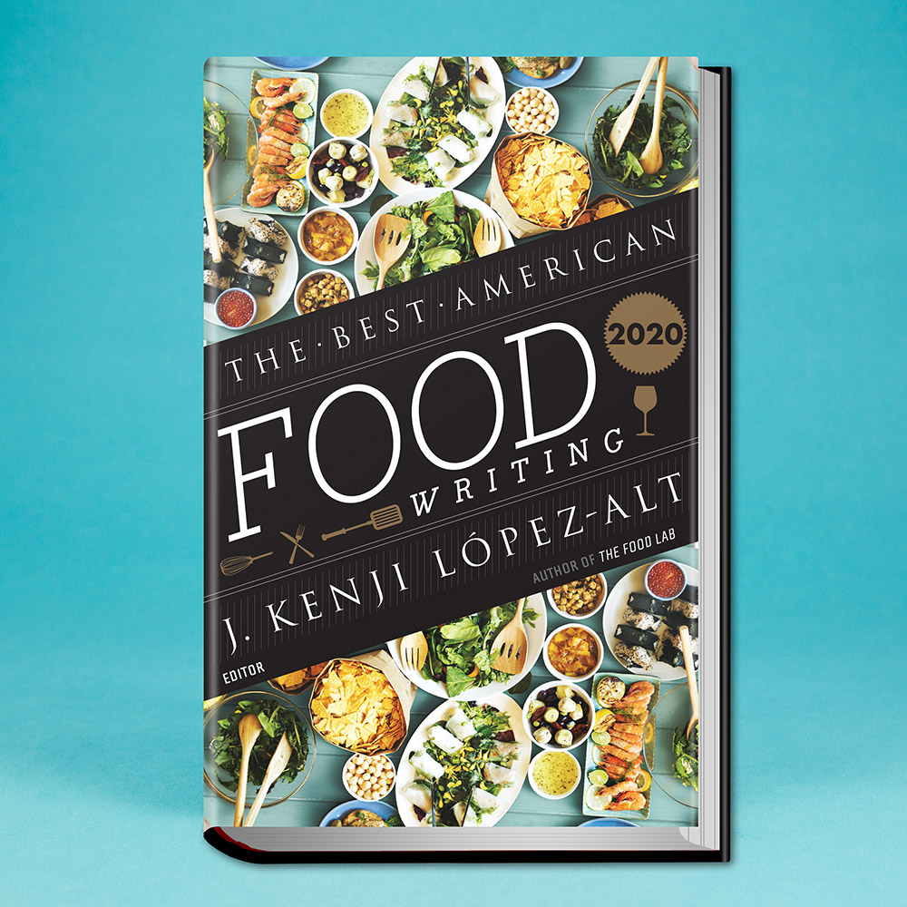 book, The Best American Food Writing 2020