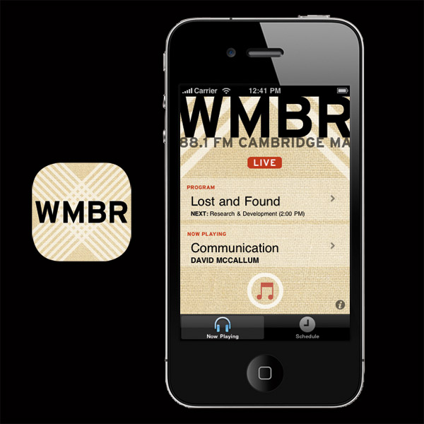 WMBR MIT Radio mobile software application